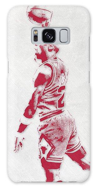 Michael Jordan Galaxy S8 Case - Michael Jordan Chicago Bulls Pixel Art 3 by Joe Hamilton