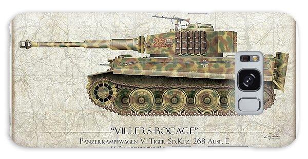 Ww2 Galaxy Case - Michael Wittmann Tiger Tank - Map Background by Craig Tinder
