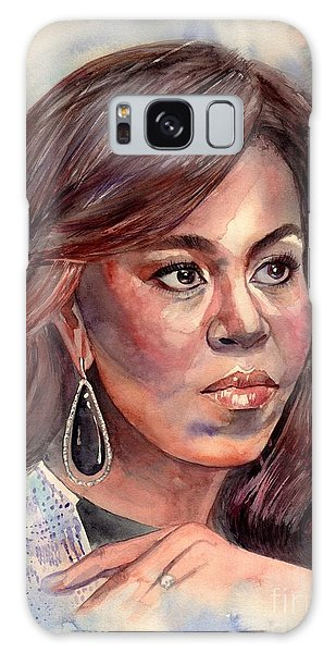 Clayton Galaxy Case - Michelle Obama Portrait by Suzann Sines