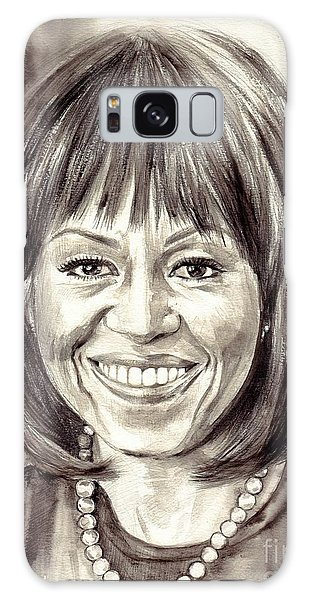 Clayton Galaxy Case - Michelle Obama Watercolor Portrait by Suzann Sines