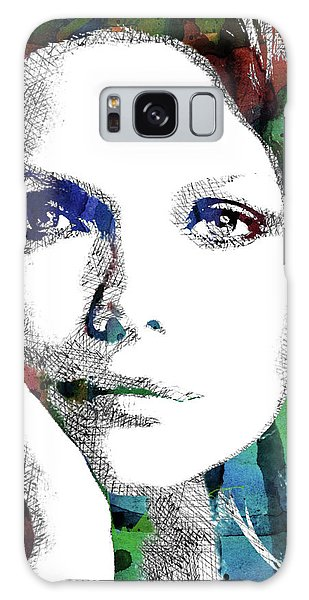 Michelle Pfeiffer Galaxy Case by Mihaela Pater
