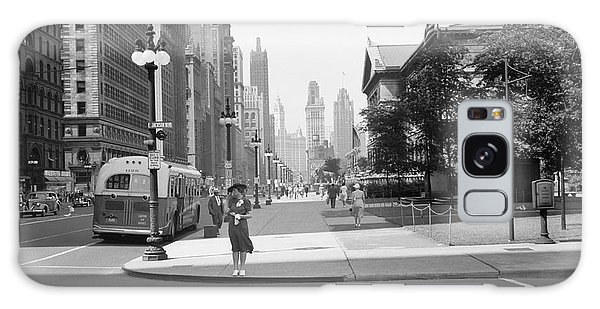 Art Institute Galaxy Case - Michigan Avenue Chicago 1940 by Daniel Hagerman