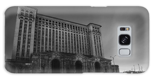 Michigan Central Station At Midnight Galaxy Case