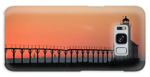 Michigan City East Pier Lighthouse Galaxy Case by George Jones