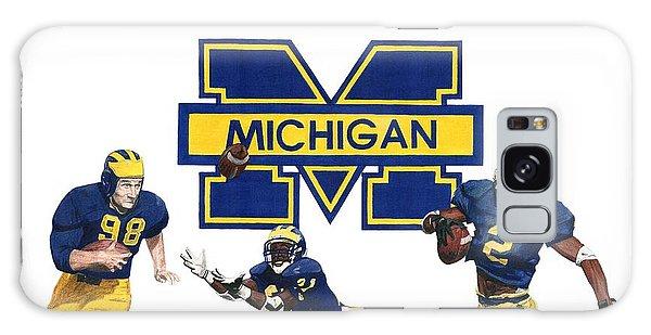 Sport Art Galaxy Case - Michigan Heismans by Chris Brown