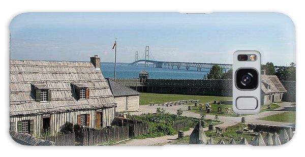 Michilimackinac And Mackinac Bridge Galaxy Case