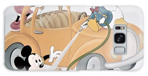 Micky,minnie And Donald On Car Galaxy Case