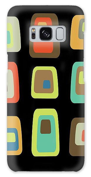 Mid Century Modern Oblongs On Black Galaxy Case
