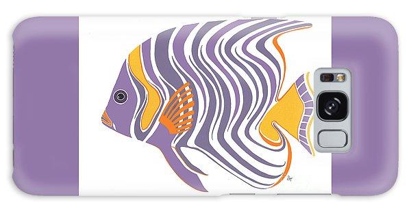 Mid Century Purple Fish Galaxy Case