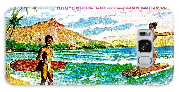 Mid Pacific Carnival Hawaii Surfing 1915 Galaxy Case by Peter Gumaer Ogden