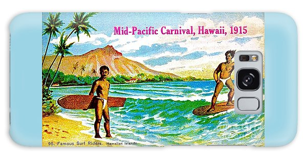 Mid Pacific Carnival Hawaii Surfing 1915 Galaxy Case