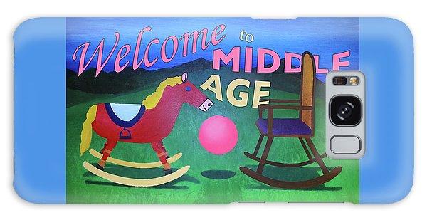 Middle Age Birthday Card Galaxy Case