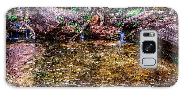Middle Emerald Pools Zion National Park Galaxy Case