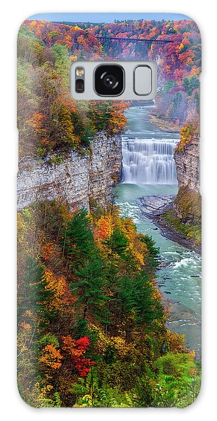 Middle Falls Of Letchworth State Park Galaxy Case