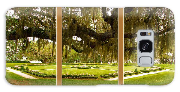 Galaxy Case featuring the photograph Middleton Gardens Triptych by Bill Barber