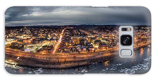 Middletown Ct, Twilight Panorama Galaxy Case by Petr Hejl