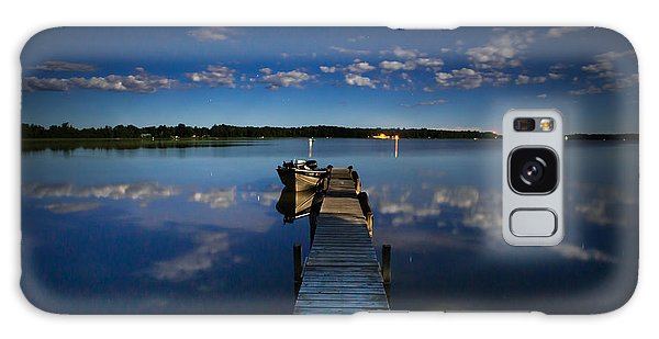Midnight At Shady Shore On Moose Lake Minnesota Galaxy Case