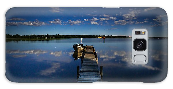Midnight At Shady Shore On Moose Lake Minnesota Galaxy Case
