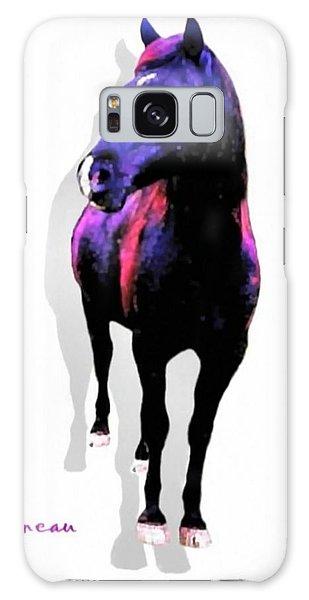 Midnight Black Stallion Galaxy Case by Sadie Reneau