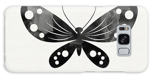 Insects Galaxy Case - Midnight Butterfly 3- Art By Linda Woods by Linda Woods