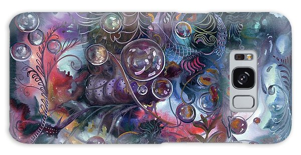 Midnight Dancing Bubbles Galaxy Case