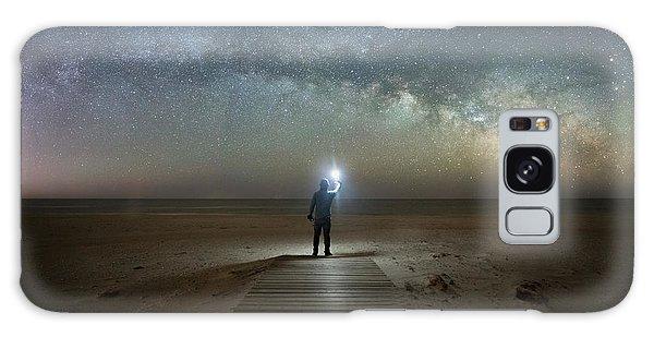 Midnight Explorer At Assateague Island Galaxy Case
