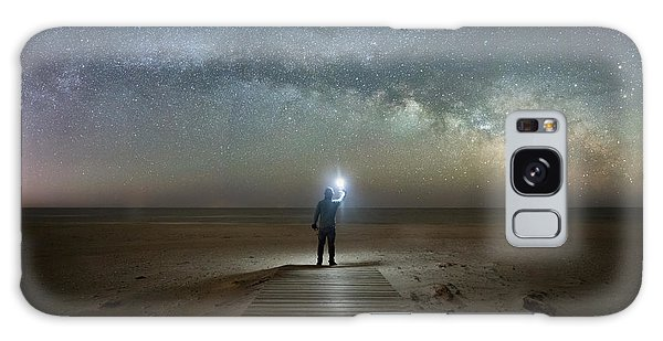 Midnight Explorer At Assateague Island Galaxy Case
