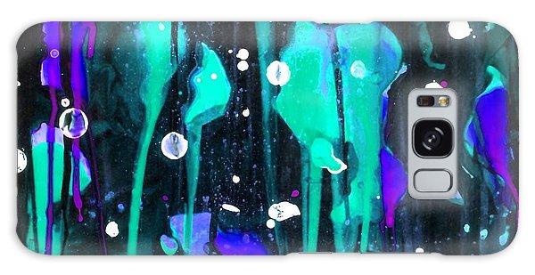 Midnight Garden Blue Galaxy Case by Carolyn Repka