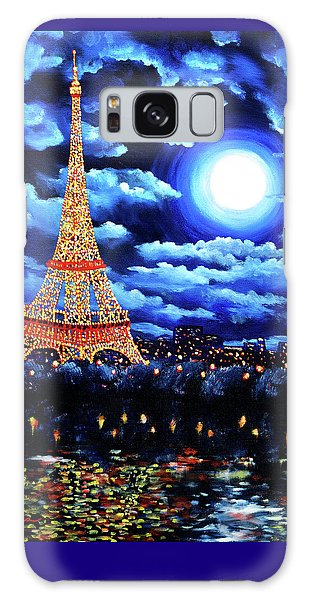 Midnight In Paris Galaxy Case by Laura Iverson