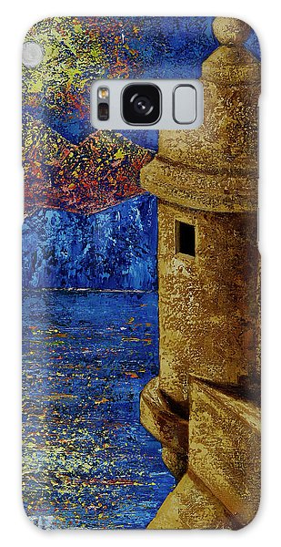 Galaxy Case featuring the painting Midnight Mirage In San Juan by Oscar Ortiz