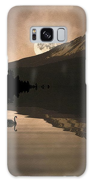 Midnight Moods Swan Lake In The Moonlight Galaxy Case by Diane Schuster