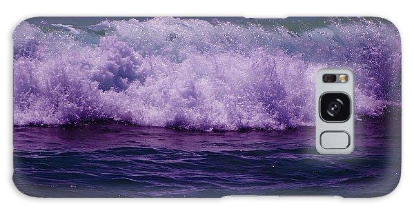 Midnight Ocean Wave In Ultra Violet Galaxy Case