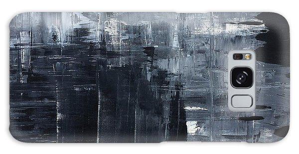 Midnight Shades Of Gray - 48x48 Huge Original Painting Art Abstract Artist Galaxy Case