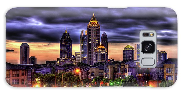 Midtown Atlanta Towers Over Atlantic Commons Art Galaxy Case