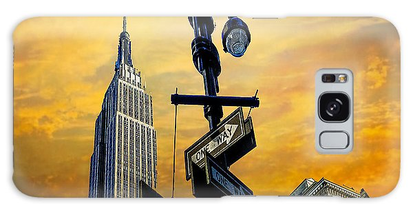 Galaxy Case featuring the photograph Midtown Sunset by Chris Lord