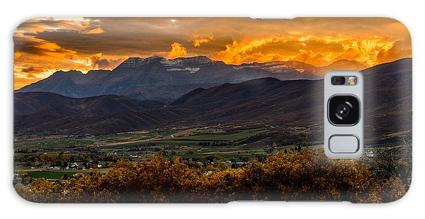 Midway Utah Sunset Galaxy Case