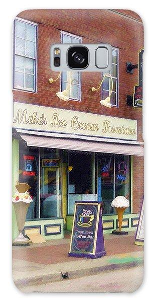 Mike's Ice Cream Fountain Galaxy Case by Sandy MacGowan