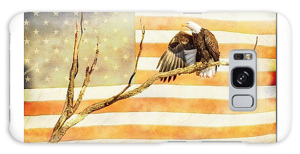 Feather Stars Galaxy Case - Mile High American Bald Eagle Salute by James BO Insogna