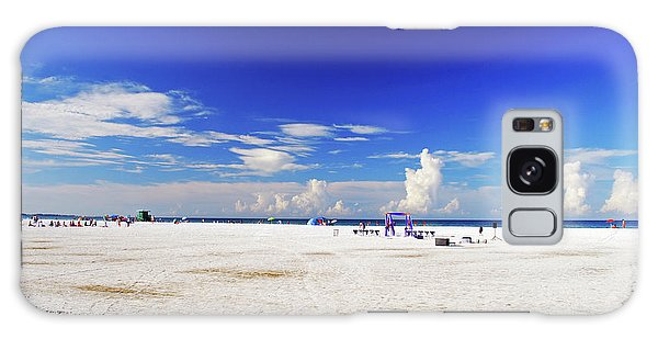 Galaxy Case featuring the photograph Miles And Miles Of White Sand by Gary Wonning