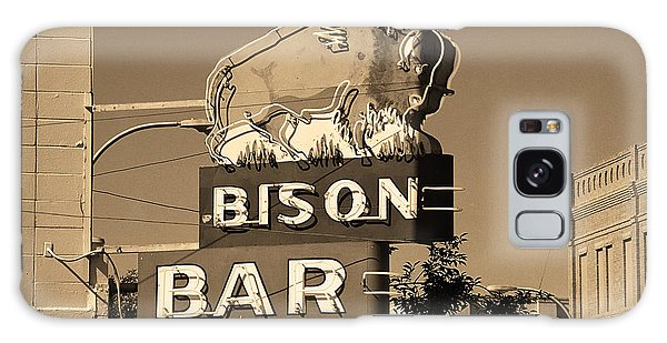 Galaxy Case - Miles City, Montana - Bison Bar Sepia by Frank Romeo