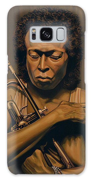 Trumpet Galaxy S8 Case - Miles Davis Painting by Paul Meijering