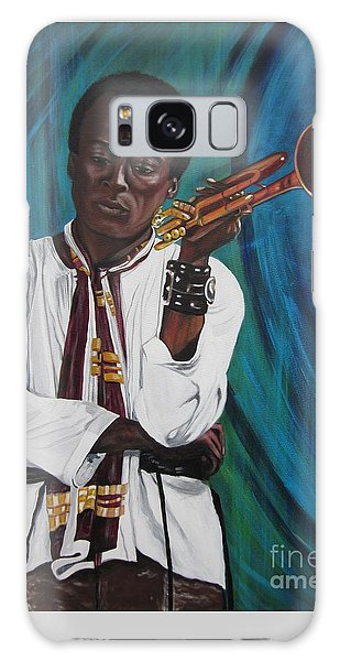 Miles-in A Really Cool White Shirt Galaxy Case by Sigrid Tune
