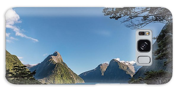 Galaxy Case featuring the photograph Milford Sound Overlook by Gary Eason