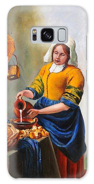 Milk Maid After Vermeer Galaxy Case
