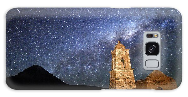 Desert View Tower Galaxy Case - Milky Way Above Ruined Church And Sajama Volcano Bolivia by James Brunker