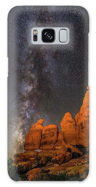 Milky Way And Navajo Rocks Galaxy Case