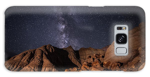 Galaxy Case featuring the photograph Milky Way And Petrified Logs by Melany Sarafis