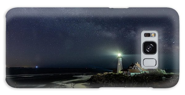 Milky Way At Portland Head Light Galaxy Case