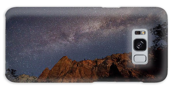 Milky Way Galaxy Over Zion Canyon Galaxy Case