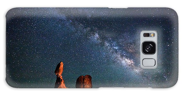 Light Paint Galaxy Case - Milky Way Over Balanced Rock by Dan Norris